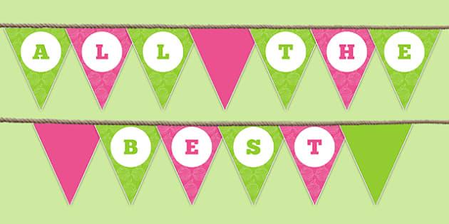 All the Best Bunting - all the best, bunting, display bunting, display, school leavers