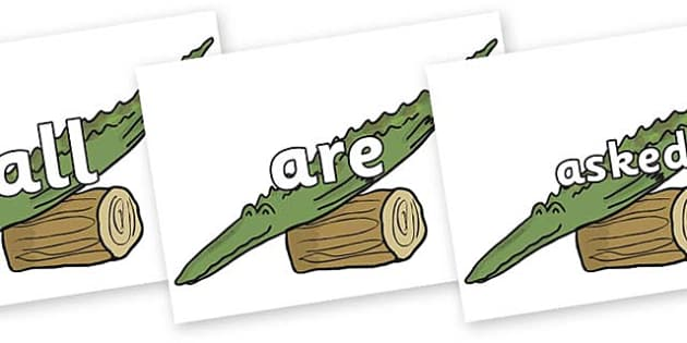 Tricky Words on Trick Two to Support Teaching on The Enormous Crocodile - Tricky words, DfES Letters and Sounds, Letters and sounds, display, words