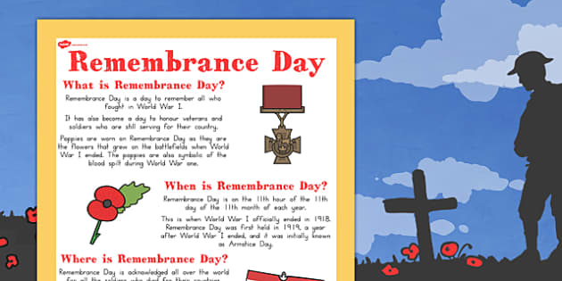 Remembrance Day Where When What Poster A4 - australia, remember