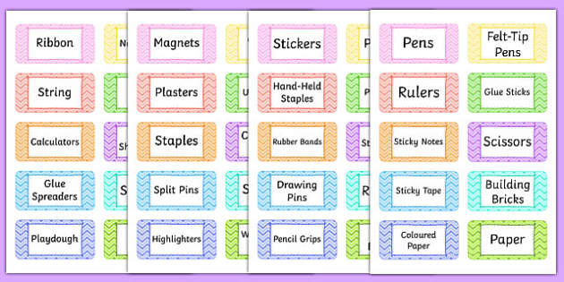 Teacher Toolkit Labels