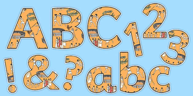 Ancient Olympics Display Letters and Numbers Pack - ancient olympics, display, letters, numbers, pack
