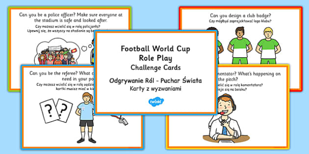 Football World Cup Stadium Role Play Challenge Cards Polish Translation - polish, football