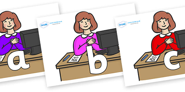 Phoneme Set on Receptionists - Phoneme set, phonemes, phoneme, Letters and Sounds, DfES, display, Phase 1, Phase 2, Phase 3, Phase 5, Foundation, Literacy