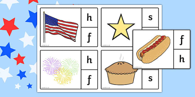 4th of July Phonics - usa, america, 4th july, independence day, phonics