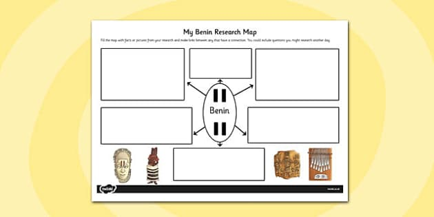 Benin Themed Research Map - benin, research map, research, map