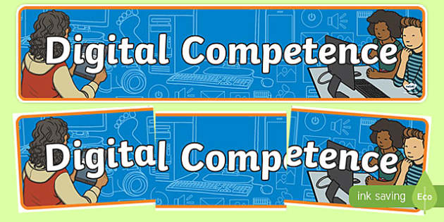 Digital Competence Framework Display Banner-Welsh