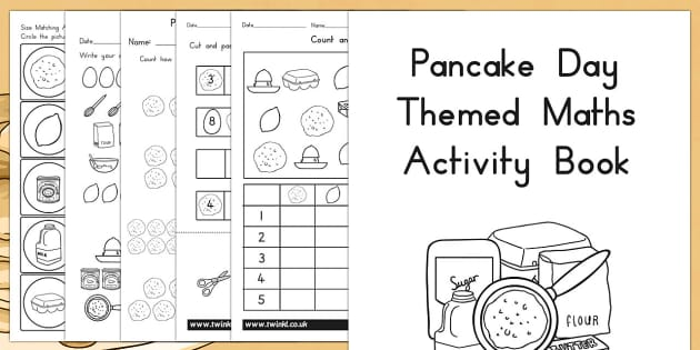 Pancake Day Themed Maths Activity Book - australia, pancake