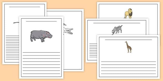 Crocodile Themed Writing Frames - The Selfish Crocodile, template, border, lined, half-lined, english, literacy, display,