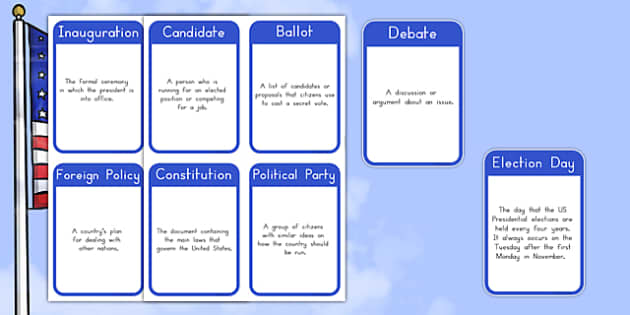 Presidential Election Vocabulary Flashcards