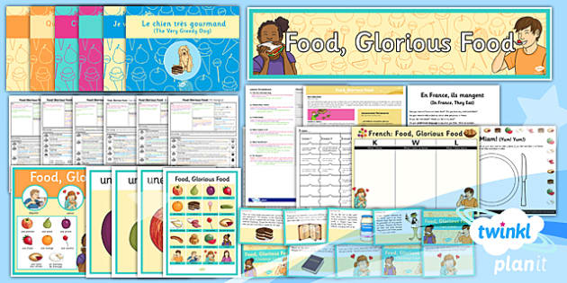 PlanIt - French Year 3 - Food Glorious Food Unit Pack - planit, french, year 3, food glorious food, unit pack