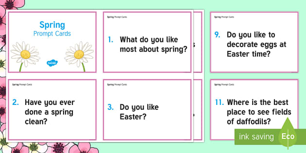 Spring Prompt Questions Adult Guidance - Spring, Easter, Care Homes, Elderly Care, Ideas, Support, Activity Co-ordinators, Season, Prompt Que