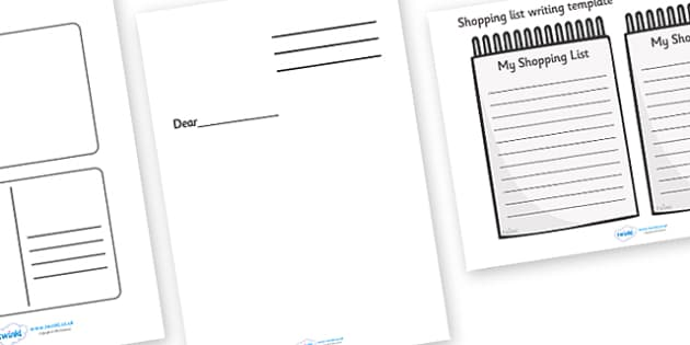 Writing Template Set - writing template set, writing, write, template, set, pack, templates, notes, notepad, note book, bookles, creative, independent