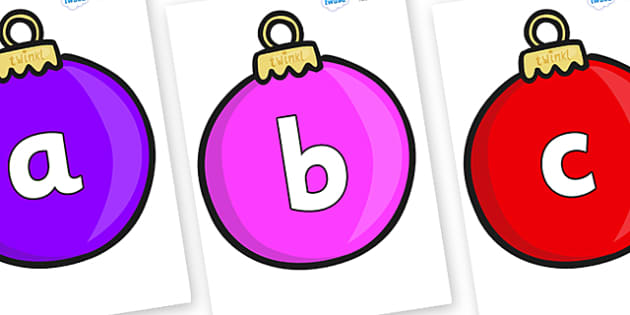 Phoneme Set on Baubles (Plain) - Phoneme set, phonemes, phoneme, Letters and Sounds, DfES, display, Phase 1, Phase 2, Phase 3, Phase 5, Foundation, Literacy