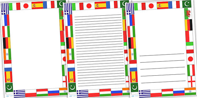 Modern Foreign Languages Page Borders - languages, borders