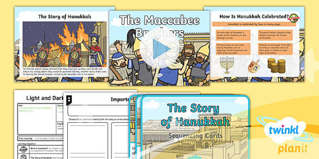 PlanIt - RE Year 2 - Light and Dark Lesson 5: The Maccabee Brothers (Judaism) Lesson Pack