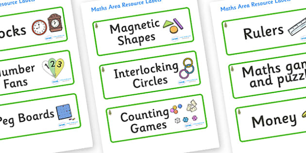 Larch Tree Themed Editable Maths Area Resource Labels - Themed maths resource labels, maths area resources, Label template, Resource Label, Name Labels, Editable Labels, Drawer Labels, KS1 Labels, Foundation Labels, Foundation Stage Labels, Teaching