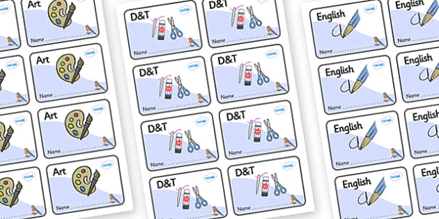Bluebird Themed Editable Book Labels - Themed Book label, label, subject labels, exercise book, workbook labels, textbook labels