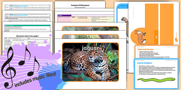 Foundation PE (Reception) - Gymnastics - Gym in the Jungle Lesson Pack 1: Exploring the Jungle - EYFS, PE, Physical Development, Planning
