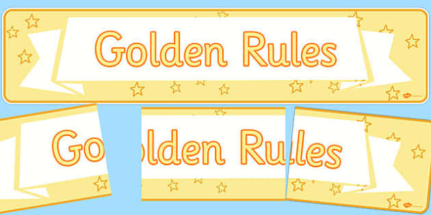 Golden Rules Display Banner - rules, behaviour, display, banner, golden rules