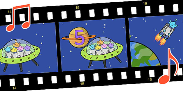 Five Little Men in a Flying Saucer Sing Along Video - fun, video