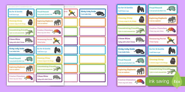 Animal Themed Characteristics of Effective Learning Stickers - animal, characteristics, effective learning, effective, learn, stickers