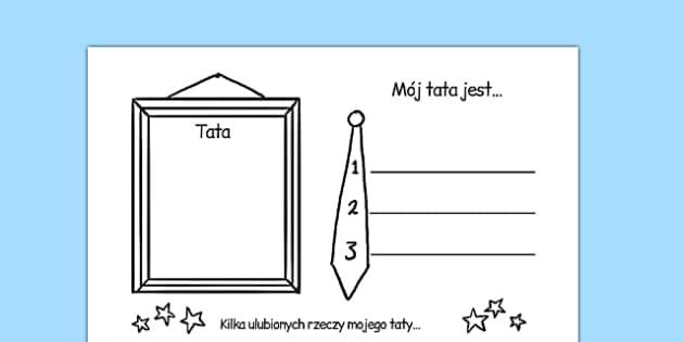 Arkusz O Moim Tacie po polsku
