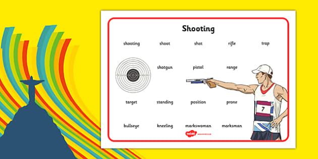 The Olympics Shooting Word Mat - the olympics, rio olympics, 2016 olympics, rio 2016, shooting, word mat