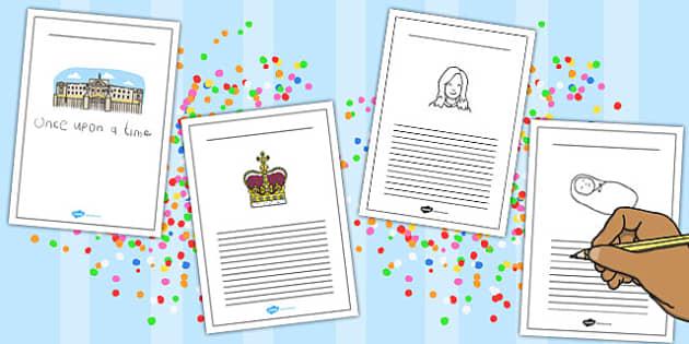 Royal Princess Writing Frames - royal, princess, writing, frames