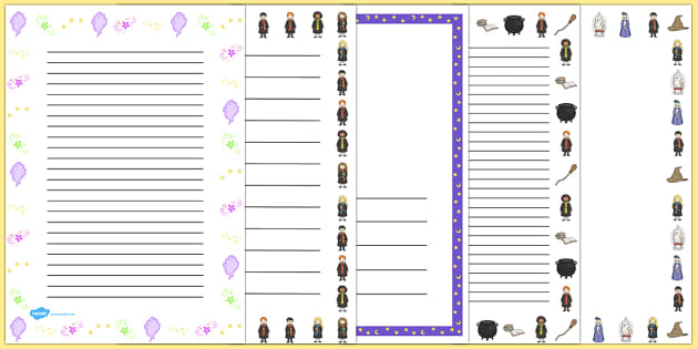 Wizard School Page Borders - border, pages, wizards, frames