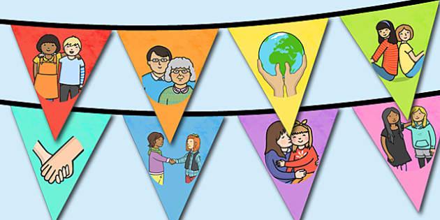 World Kindness Day Bunting - displays, display, poster, visual