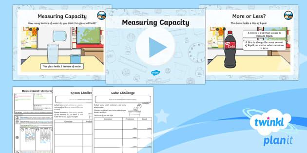 PlanIt Y1 Measurement Lesson Pack - Measurement, non-standard units, capacity, volume, measuring, measure