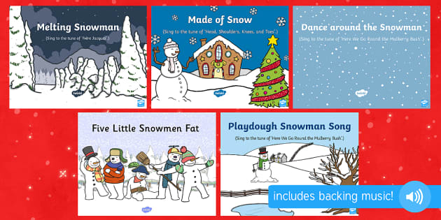 Snowman Songs and Rhymes PowerPoints Pack - The Snowman, Raymond Briggs, Christmas, winter, snowman, snowmen