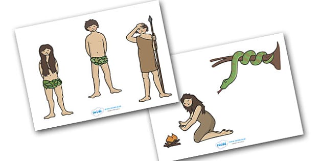 Adam and Eve Creation Story Stick Puppets - Adam, Eve, Eden, serpent, fruit, earth, garden, creation, creation story, story, story book, story sequencing, story resources, stick puppet, paradise, sea creatures, birds, stars, moon, sun, tree, evil, kn