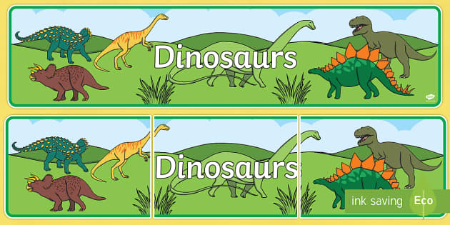 Display Banner to Support Teaching on Harry and the Bucketful of Dinosaurs - dinosaurs