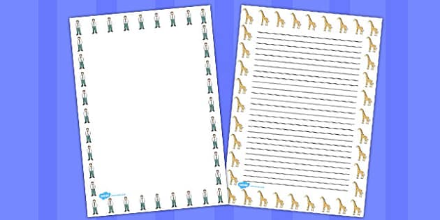 Giant Themed Page Borders - border, pages, writing, write, frame