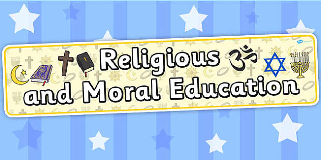 Religious And Moral Education Curriculum For Excellence Banner