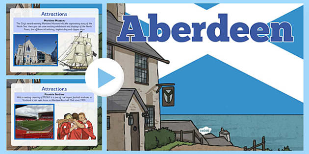 Aberdeen PowerPoint  -  CfE, Social Studies, Towns and Cities, Scottish Cities, Aberdeen