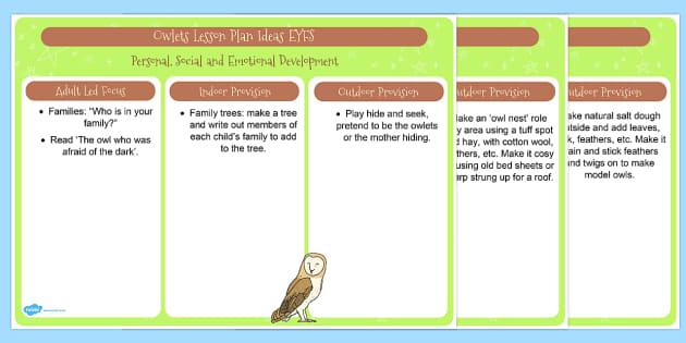 Owl EYFS Lesson Plan Ideas - owl, eyfs, lesson plan, ideas, story