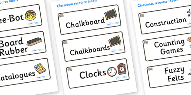 Rhino Themed Editable Additional Classroom Resource Labels - Themed Label template, Resource Label, Name Labels, Editable Labels, Drawer Labels, KS1 Labels, Foundation Labels, Foundation Stage Labels, Teaching Labels, Resource Labels, Tray Labels, Pr