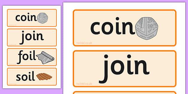 Oi Sound Word Cards - oi sound, word cards, word, cards, sound