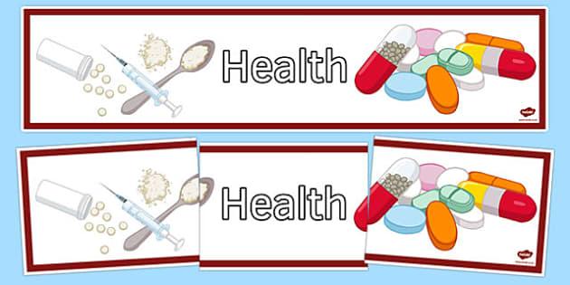 Health Display Banner - health, display banner, display, banner