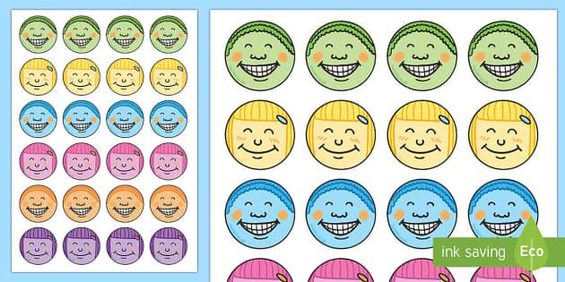 Etiquetas: Caras contentas-Spanish - Pack de actividades para la vuelta al cole, premios, pegatinas, felicitar - Pack de actividades para la vuelta al cole, premios, pegatinas, felicitar,Spanish