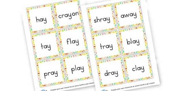 ay Words Buried Treasure Cards - Phase 5 Visual aids Primary Resources, Phase One, Letters, sounds