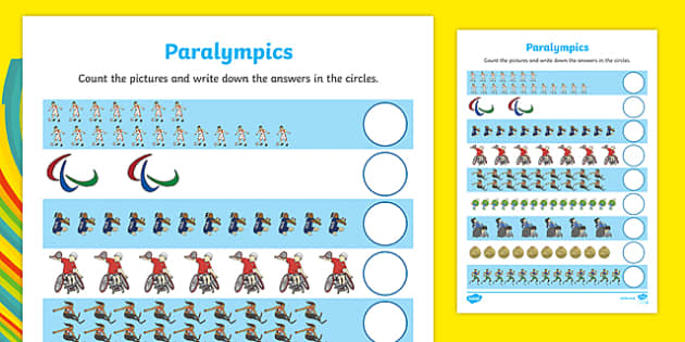Paralympics Counting up to 20 Activity