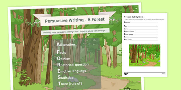 A FOREST KS4 Pack - a forest, ks4, pack, lesson, persuasive writing, writing techniques, non-fiction