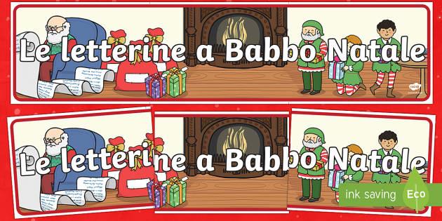 Letterine a Babbo Natale Striscione - letterine a Babbo Natale, babbo Natale, natale, striscione, Natalizio, festivo, decorazioni natalizi