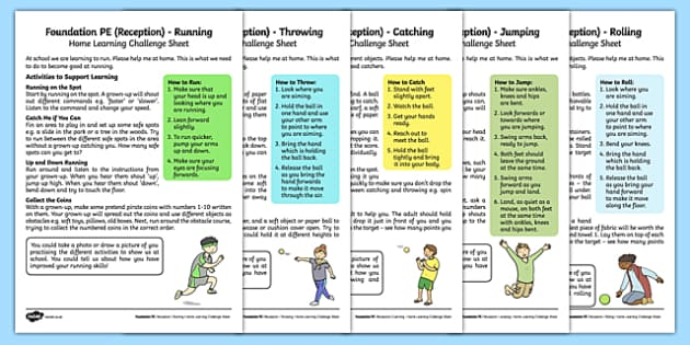 Foundation PE (Reception) – Games – The Olympics Home Learning Challenge Sheets Pack - EYFS, PE, Physical Development, Planning