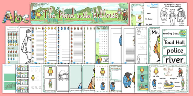 The Wind in the Willows Resource Pack - packs, traditional, tales