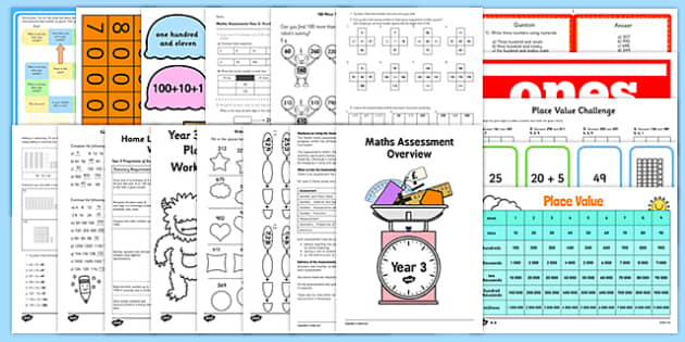 Top 10 Year 3 Place Value Resource Pack