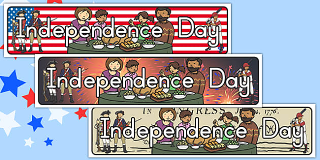 Independence Day Display Banner Pack - independence day, banner